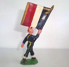Figurine cyrnos époq. starlux clairet jim : soldat porte drapeau n°1