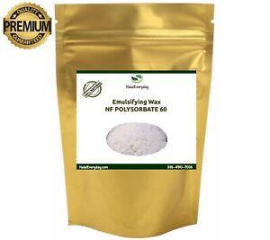 Emulsifying Wax NF POLYSORBATE 60 - PREMIUM QUALITY 100% Pure Polawax 4oz - BULK