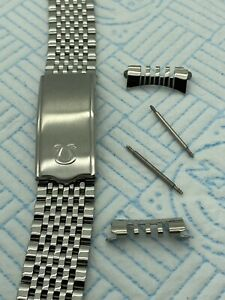 OMEGA STAINLESS STEEL 20mm SILVER STRAP ( High Quality ) Strap