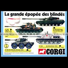 CORGI TOYS 1974 CHARS TANKS M60 A1 (902) SU 100 (905)... Pub Publicité Ad #B238