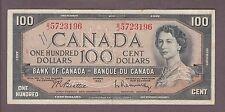 1954 $100 Dollars Beattie Rasminsky - Prefix B/J - Bank of Canada - D622