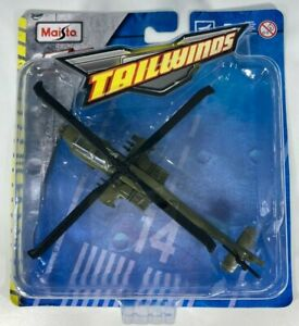 Maisto - Tailwinds - Diecast Fresh Metal  AH-64 Apache  US Army Helicopter