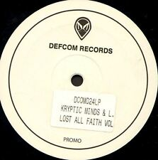 "KRYPTIC MINDS & LEON SWITCH lost all faith part 2 DOUBLE 12"" EX promo DCOM024LP"