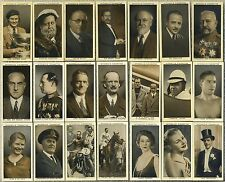 Lot of 21 High Grade STEPHEN MITCHELL & SON A GALLERY OF 1934 1935 Tobacco Cards