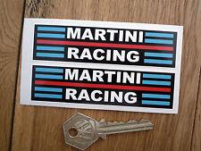 """MARTINI RACING CORSA RALLY AUTO ADESIVI 4 """"COPPIA LANCIA PORSCHE ALFA BRABHAM TECNO"""