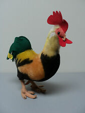 """CUTE VINTAGE 1960's STEIFF LARGE 12"""" MOHAIR ROOSTER - Absolutely Adorable!"""