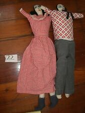 Folk Art Mexico doll  hand made  cloth Vintage  Couple #22