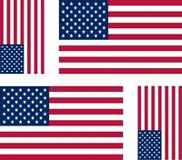 4 x Autocollant sticker voiture moto  drapeau usa amerique americain etats unis