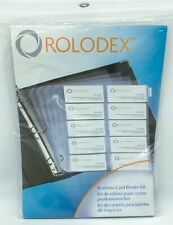 New Listingrolodex Business Card Binder Kit 15 Pages New Amp Sealed In Package 67696