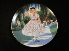 """Danbury Mint """" The Littlest Rebel """" Shirley Temple Plate with Coa"""