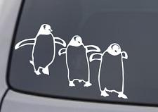 PENGUINS Vinyl Decal Sticker Car Window Wall Bumper Gentoo Birds Marching Cute
