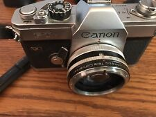 Canon Ftb QL 35mm SLR Film with Vivitar Automatic tele converter.