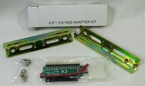 """HDD SSD Mounting Adapter kit 2.5"""" to 3.5"""" Metal Rails w 40 pin Adapter Board"""