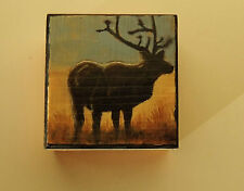 STAG Hand-Painted Box,Suitable for Men & Women for Rings, Earrings. Cuff Links