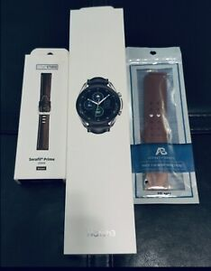 Open Box Galaxy Watch3 45MM, 2 Bands Mystic Silver SM-R845UZSAXAR LTE + Wi-Fi