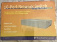 Gigafast Ethernet EZ1600-S 16-port 10/100 Mbps Network Switch New