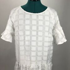 Anthropologie Maeve Womens Dress Orlaya White Medium M Drop Waist