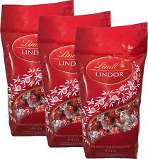 (1,78€ / 100g) Lindt Lindor Kugeln Schokolade Rot Vollmilch 3 x 600 g Neues MHD