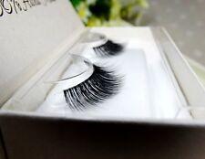 3D Transparent Band Handmade Makeup Slender Thick Cross Natural False Eyelashes