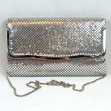Vintage Silver Mesh Purse Handbag Chain Strap or Clutch Super Nice