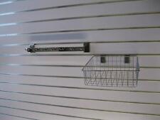 Slatwall Metal Bracket 7 Hooks 300mm Home Organiser Storage 2 Pk Garage Showroom