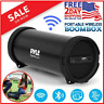 Loud Bluetooth Speaker Rechargeable Stereo System Portable Wireless Boombox Aux
