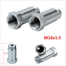 2Pcs O2 Oxygen Test Pipe Extension Spacer CEL Fix Universal- 45mm Steel M18x1.5