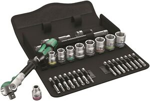 "Wera 8100 SB 6 Zyklop Speed Ratchet Set 3/8"" Drive Metric 29 Piece 05004046001"