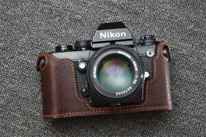 Genuine Leather Half Case for Nikon F3 Camera Handmade Retro Style Cover Fashion