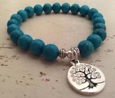 Natural turquoise buddhist prayer beads crystal mala yoga men bracelet pendant