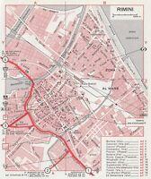 C2654 Pianta della Città di Rimini - Mappa geografica d'epoca - 1967 vintage map