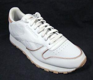 New Reebok Classics Leather RM Men's Shoes 9 Light Skull Grey Sneakers  CN2846