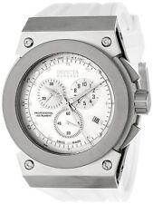 Men's 1360 Akula Reserve Chronograph Silver Dial White Polyurethane Watch
