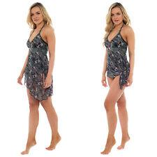 Womens Tummy Support Control Swimming Costume With Skirt Swim Dress Swimwear