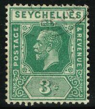 SG 83 SEYCHELLES 1917 - 3c GREEN - USED