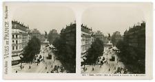 Stereo, France, Paris, rue du Temple & statue de la République Vintage stereo ca