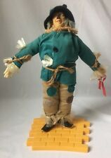 Wizard of Oz Scarecrow Doll with Yellow Brick Road Stand by Hamilton Presents