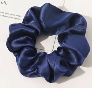 Large thick strong Scrunchies Hair Band  Satin Fabric Tie Elastic Bobble UK