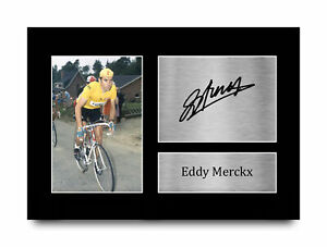 Eddy Merckx Excellent Gift Idea Signed Autograph A4 Photo Print Fans of Cycling