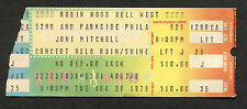 1979 Joni Mitchell Jaco Pastorius Matheny concert ticket stub Philadelphia Pa