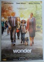 WONDER 2017 ORIGINAL MOVIE POSTER DOUBLE SIDED D/S 27X40 INCH