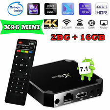 X96 S905W Smart Android 7.1.2 TV BOX Quad Core 2GB+16GB WIFI 4K 3D Media Player