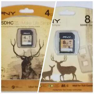 PNY Premium 4 GB 8 GB SDHC Card Trail Camera 1179-2800 Pics 100-200 Min Vid B1