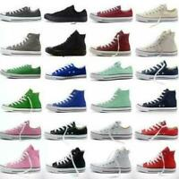 Women Ladies Classic  Trainer Low High Top Shoes Casual Canvas Sneakers
