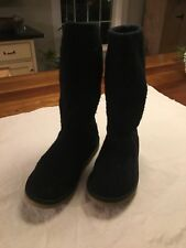 Ugg Australia Cardy Classic Knit Boot Black Women's Size 4