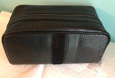 Coach Leather Travel Kit With Varsity Stripe F21387