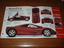 ★★1995 MCLAREN F1 V12 SPEC SHEET BROCHURE PHOTO 1992-1997★★