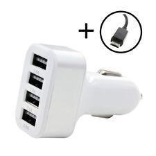 4 in 1 USB KFZ Ladegerät Adapter 4.1A 12V-24V Handy Lader für LG G2 G3 G4 Volt