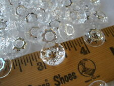 "Clear & Silver Gear Buttons 13MM 2H plastic starburst 100pc Lot 1/2"" Flower cool"