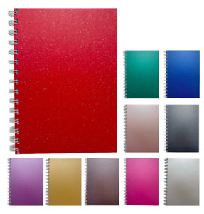 Various Colours Sparkle A5 Squared Notepad 80gsm 70 Sheets